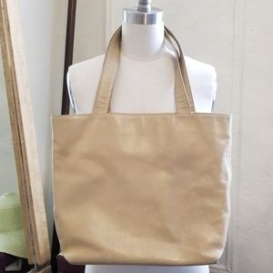 CHANEL Bags - Chanel Vintage Cream Leather Rare CC Tote Bag